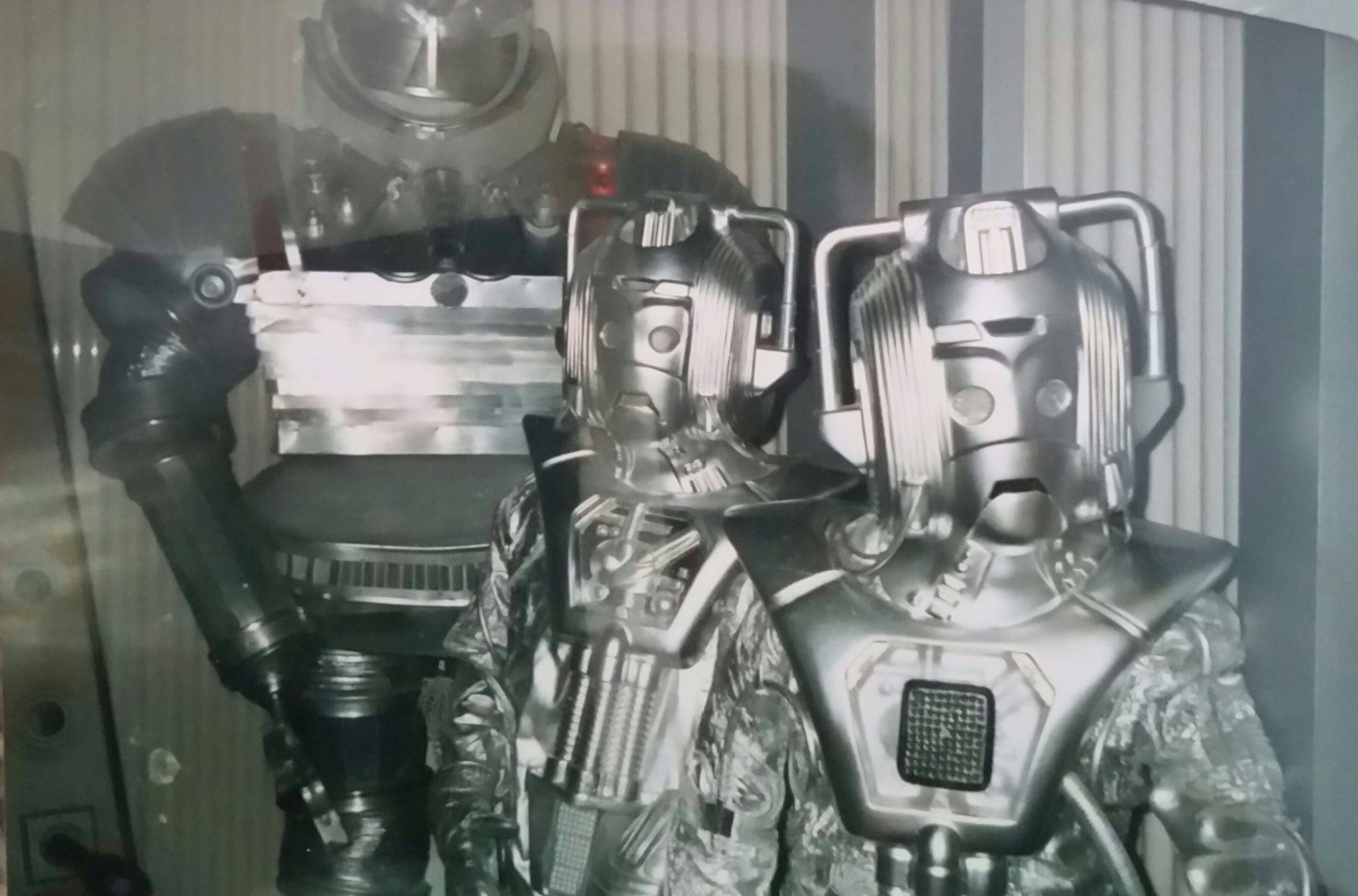 "The Cybermen and the ""Robot"" looking stern - Longleat exhibition 1989."